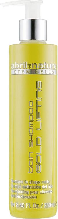 Šampón s kmeňovými bunkami pre kučeravé vlasy - Abril et Nature Stem Cells Gold Lifting Shampoo — Obrázky N1