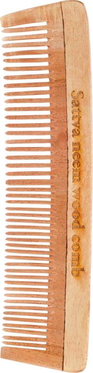 Hrebeň na vlasy, drevený, 19 cm - Sattva Neem Wood Comb — Obrázky N1