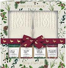 Voňavky, Parfémy, kozmetika Sada - Baylis & Harding The Fuzzy Duck Winter Wonderland Luxury Slipper Set (f/cr/100g + soap/100g + f/lot/50ml + sh/gel/50ml + slippers/2psc)