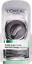 Voňavky, Parfémy, kozmetika Čistiaca maska s prírodnou hlinou a uhlím - L'Oreal Paris Skin Expert (vzorka)