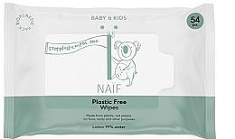 Voňavky, Parfémy, kozmetika Vlhké obrúsky - Naif Wet Wipes 54St Plastic Free