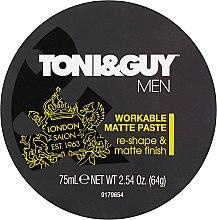 Voňavky, Parfémy, kozmetika Modelovacia pasta s matným efektom - Toni & Guy Men Workable Matte Paste