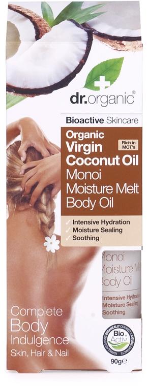 Olej na telo s kokosovým mliekom - Dr.Organic Virgin Coconut Oil Moisture Melt Body Oil — Obrázky N1