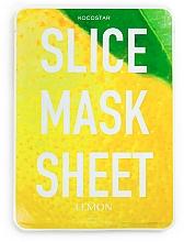 """Voňavky, Parfémy, kozmetika Plátková maska na tvár """"Citrón"""" - Kocostar Slice Mask Sheet Lemon"""