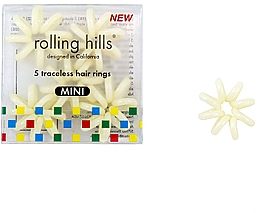 Voňavky, Parfémy, kozmetika Gumička do vlasov, bežová - Rolling Hills Traceless Hair Rings Mini Beige