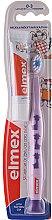 Voňavky, Parfémy, kozmetika Detská mäkká zubná kefka (0-3 rokov), fialová s žirafami - Elmex Learn Toothbrush Soft + Toothpaste 12ml