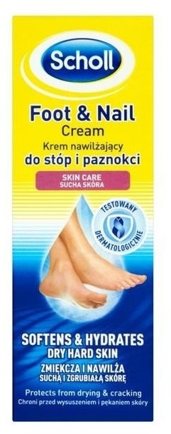 Krém na stopy - Scholl Moisturizing Foot and Nail Cream