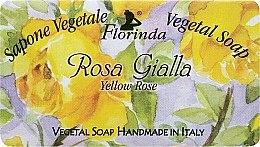 """Voňavky, Parfémy, kozmetika Prírodné mydlo """"Žltá ruža"""" - Florinda Sapone Vegetal Soap Yellow Rose"""