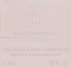 Voňavky, Parfémy, kozmetika Krém pre pleť v oblasti okolo očí - Givenchy L`Intemporel Global Youth Sumptuous Eye Cream