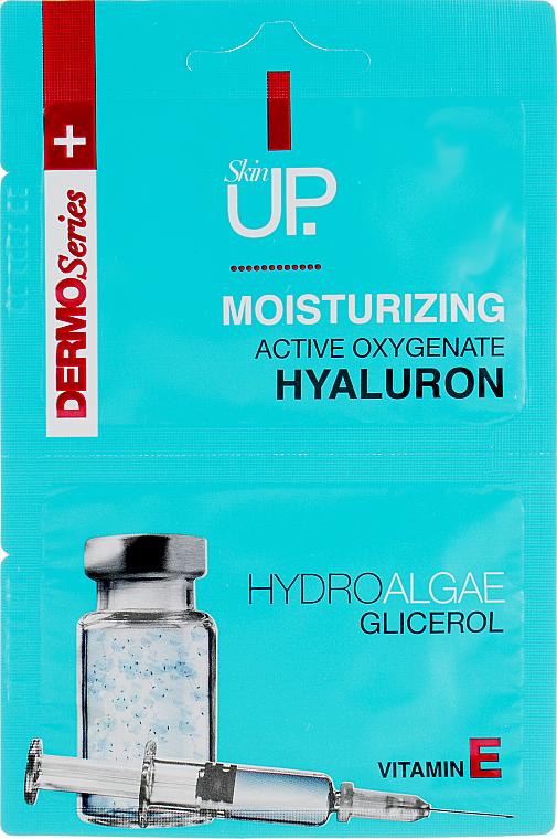 Hydratačná maska na tvár s kyselinou hyalurónovou, zelenými riasami a vitamínom E. - Verona Laboratories DermoSerier Skin Up Face Mask