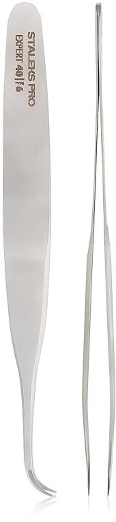 Profesionálna pinzeta na riasy - Staleks Pro Expert 40 Type 6 — Obrázky N1