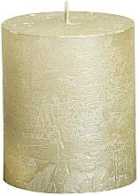 Voňavky, Parfémy, kozmetika Cylindrická sviečka Metallic Ivory, 80/68 mm - Bolsius Candle