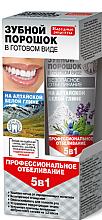 Voňavky, Parfémy, kozmetika Zubný prášok v hotovej forme na Altajskej bielej hline 5 v 1 - Fito Kozmetic Ľudové recepty
