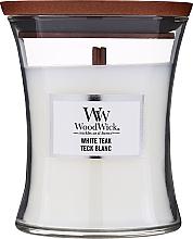 Voňavky, Parfémy, kozmetika Vonná sviečka v pohári - WoodWick Hourglass Candle White Teak