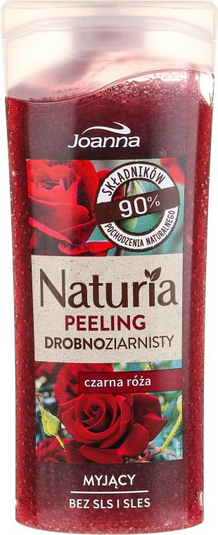 """Sprchový peeling jemnozrnný """"Čierna ruža"""" - Joanna Naturia Peeling"""