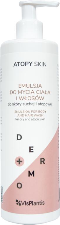 Upokojujúca emulzia na umývanie tela a vlasov - Vis Plantis Atopy Skin Emulsion For Body And Hair Wash