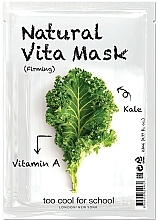 """Voňavky, Parfémy, kozmetika Spevňujúca maska na tvár """"Kapusta"""" s vitamínom A - Too Cool For School Natural Vita Mask Firming"""