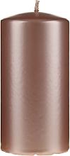 Voňavky, Parfémy, kozmetika Dekoratívna perleťová sviečka, 14 cm, ružovo zlato - Artman Opal Candle