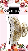 Voňavky, Parfémy, kozmetika Štipec do vlasov, 417624, zlato-mliečna s kamienkami - Glamour