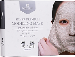 Voňavky, Parfémy, kozmetika Zlupovacia maska na tvár - Shangpree Silver Premium Modeling Mask (gel/5x50g + powder/5x4,5g)