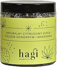 Voňavky, Parfémy, kozmetika Prírodný citrusový peeling s konopím a makadamovým olejom - Hagi Scrub