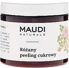 """Voňavky, Parfémy, kozmetika Cukorový telový peeling """"Ruža"""" - Maudi"""