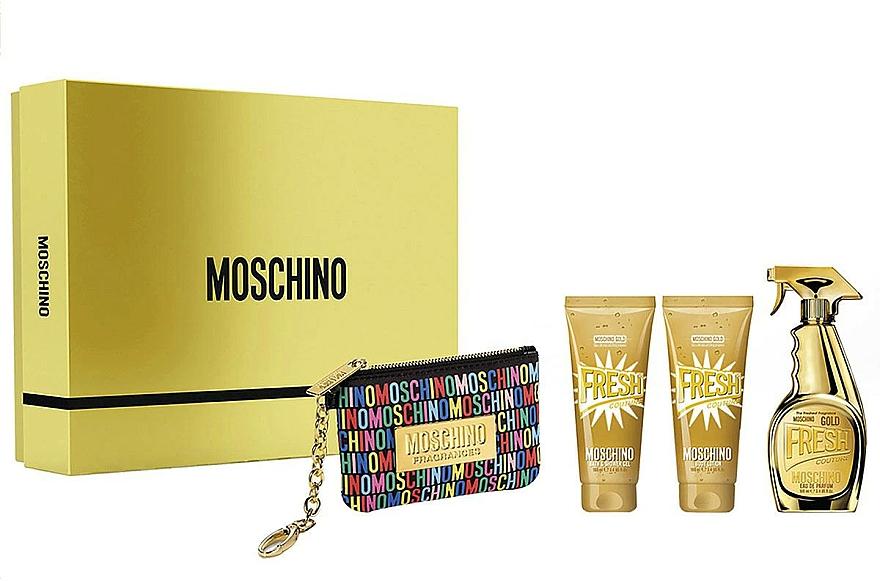 Moschino Gold Fresh Couture - Sada (edp/100ml + b/lot/100ml + s/gel/100 ml + bag)