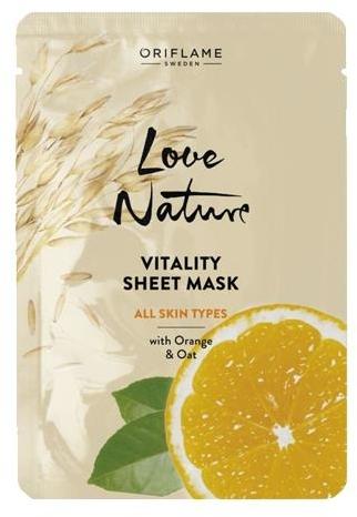 Obnovujúca textilná maska s pomarančom a ovsom - Oriflame Love Nature — Obrázky N1
