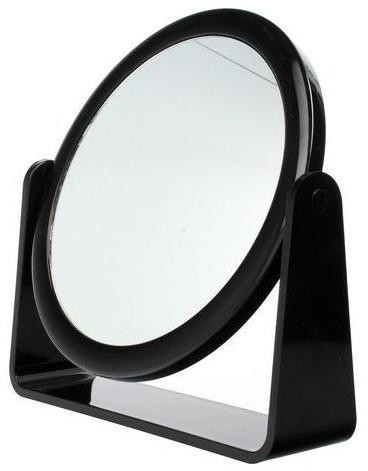 Kozmetické zrkadlo obojstranné, 85055, čierne - Top Choice