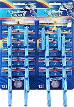Voňavky, Parfémy, kozmetika Sada jednorazových holiacich strojčekov, 24ks - Gillette Blue II Plus