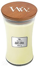 Voňavky, Parfémy, kozmetika Vonná sviečka v pohári - WoodWick Hourglass Candle Fig Leaf and Tuberose