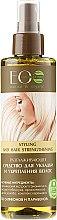 Voňavky, Parfémy, kozmetika Vyhladzujúci prostriedok na úpravu a posilnenie vlasov - ECO Laboratorie Styling and Hair Strengthening