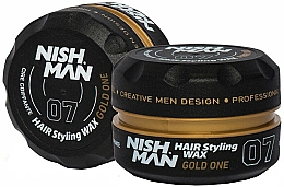 Voňavky, Parfémy, kozmetika Vosk na styling vlasov - Nishman Hair Styling Wax 07 Gold One