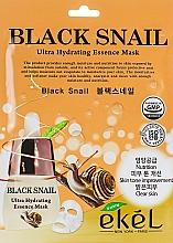 Voňavky, Parfémy, kozmetika Textilná maska s mucínom čierneho slimáka - Ekel Black Snail Ultra Hydrating Essence Mask