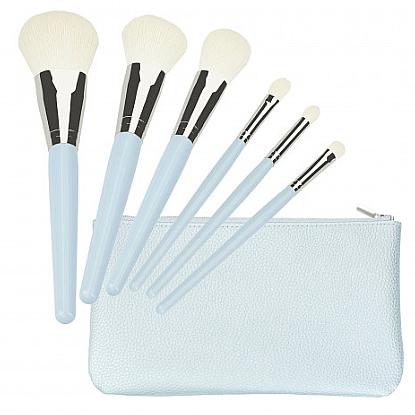 Sada štetcov na makeup, modré 6 ks - Tools For Beauty Set Of 6 Make-Up Brushes