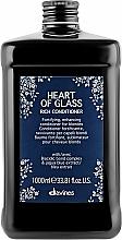 Voňavky, Parfémy, kozmetika Výživný kondicionér na podporu farby pre blond vlasy - Davines Heart Of Glass Rich Conditioner