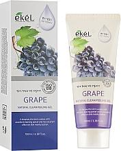 """Voňavky, Parfémy, kozmetika Peelingový gél na tvár """"Hrozno"""" - Ekel Grape Natural Clean Peeling Gel"""