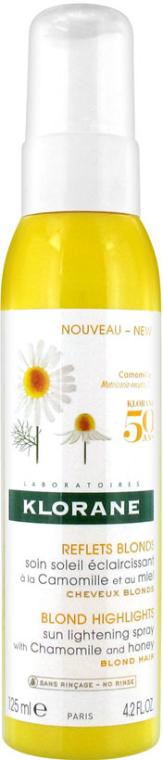 Sprej na vlasy - Klorane Blond Highlights Sun Lightening Spray With Chamomile And Honey