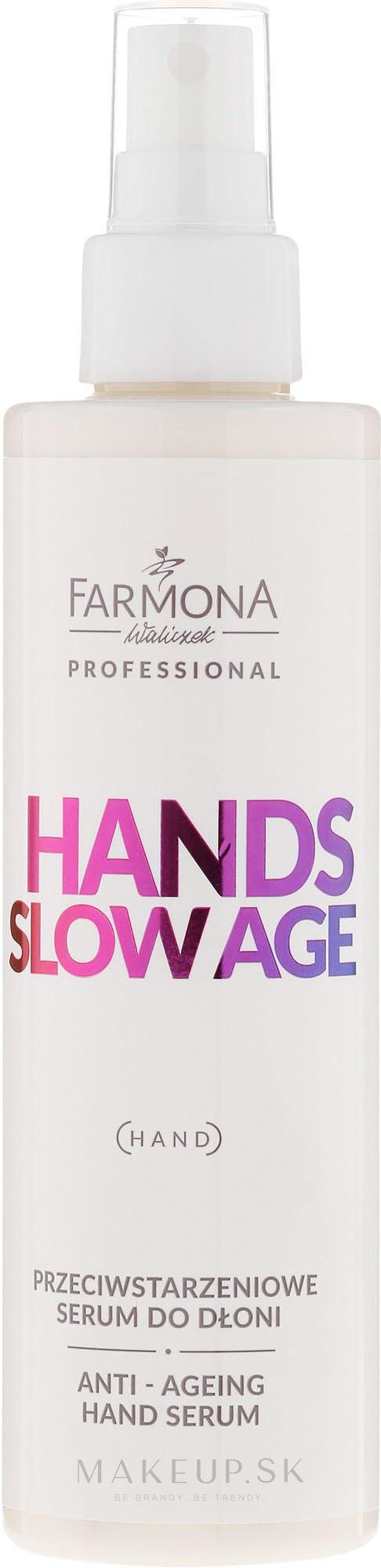 Sérum na ruky - Farmona Hands Slow Age Anti-ageing Hand Serum — Obrázky 200 ml