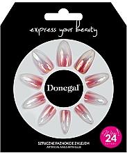 Voňavky, Parfémy, kozmetika Sada umelých nechtov s lepidlom, 3061 - Donegal Express Your Beauty