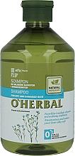 Voňavky, Parfémy, kozmetika Šampón pre suché a matné vlasy s ľanovým extraktom - O'Herbal