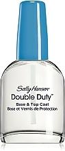 Voňavky, Parfémy, kozmetika Prostriedok na spevnenie laku s dvojitým účinkom - Sally Hansen Double Duty