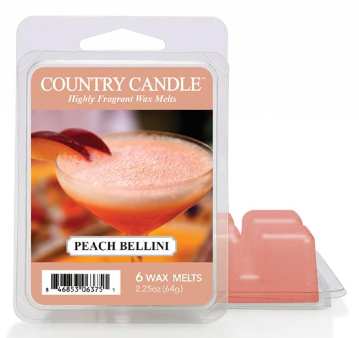 Vosk na aromatickú lampu - Country Candle Peach Bellini Wax Melts — Obrázky N1