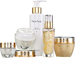 Voňavky, Parfémy, kozmetika Sada - Oriflame NovAge Time Restore (f/gel/150ml+eye/cr/15ml+ser/30ml+d/cr/50ml+n/cr/50ml)