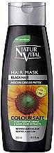 Voňavky, Parfémy, kozmetika Maska na zachovanie farby zafarbených vlasov - Natur Vital Coloursafe Henna Hair Mask Black Hair