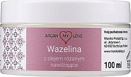 Voňavky, Parfémy, kozmetika Vazelína s ružovým olejom na tvár a telo - Argan My Love