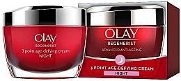 Voňavky, Parfémy, kozmetika Nočný krém proti starnutiu - Olay Regenerist 3 Point Age-Defying Cream Night