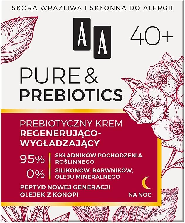Nočný krém na tvár 40+ - AA Pure & Prebiotics