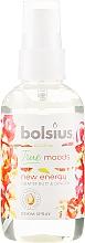 """Voňavky, Parfémy, kozmetika Aromatický sprej """"Grapefruity a zázvor"""" - Bolsius Room Spray True Moods New Energy"""
