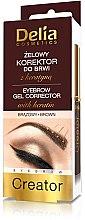 Voňavky, Parfémy, kozmetika Korekčný gél na obočie 4 v 1 - Delia Cosmetics Eyebrow Gel
